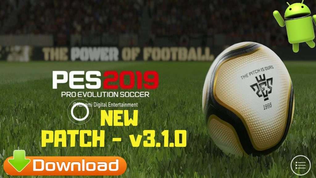 New Patch PES 2019 Android OBB v3.1.0 Download