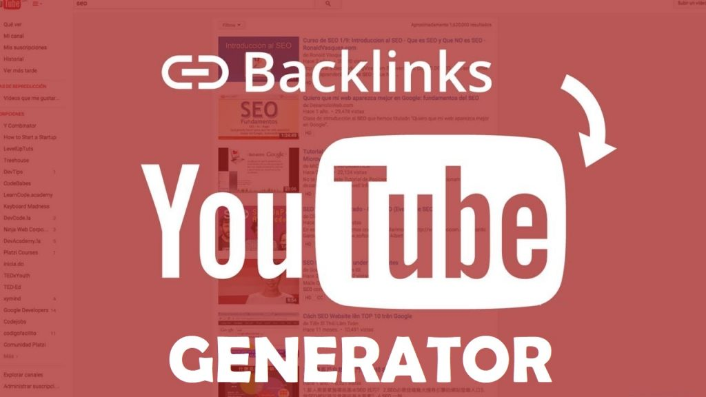 YouTube SEO Backlink Generator