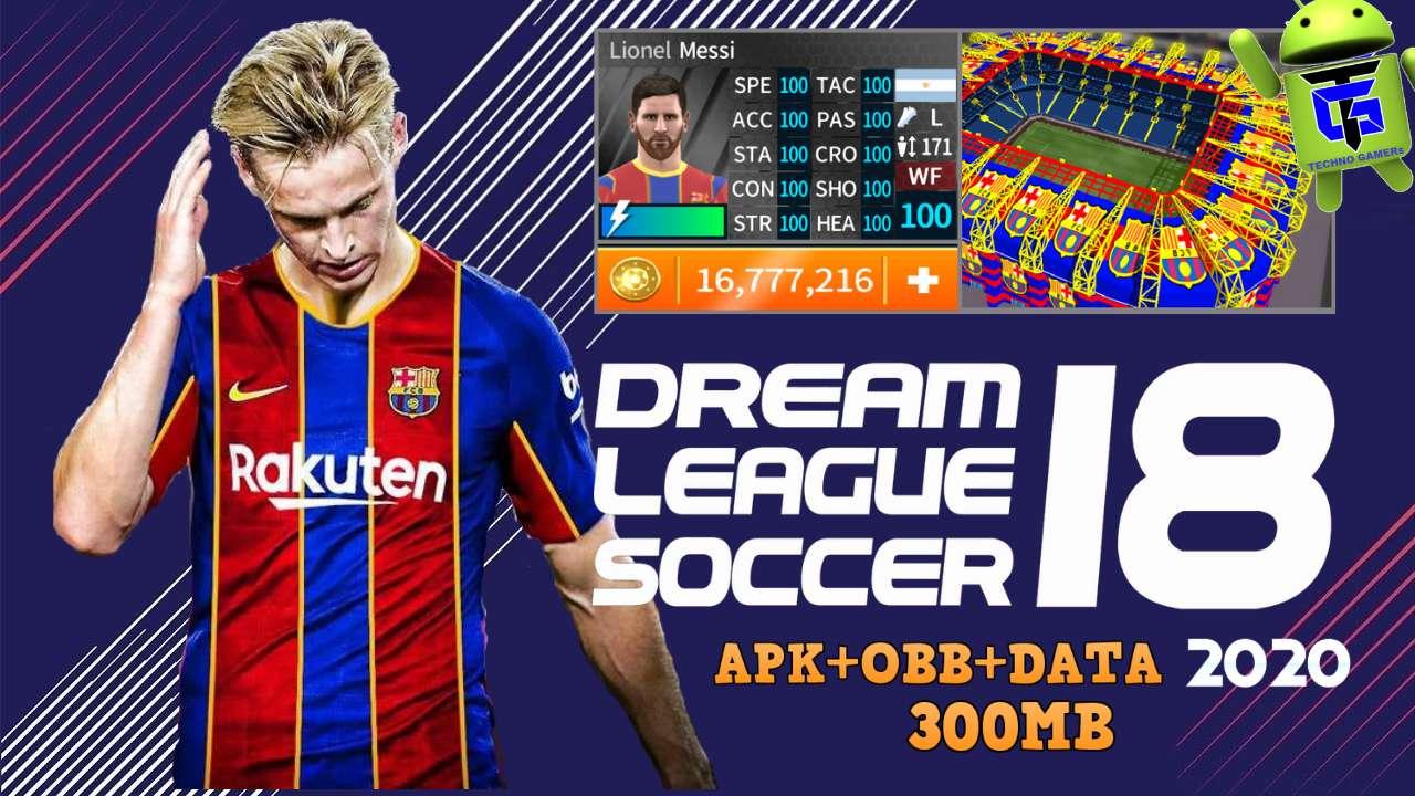 DLS 18 Mod APK Barcelona Update 2021 Download