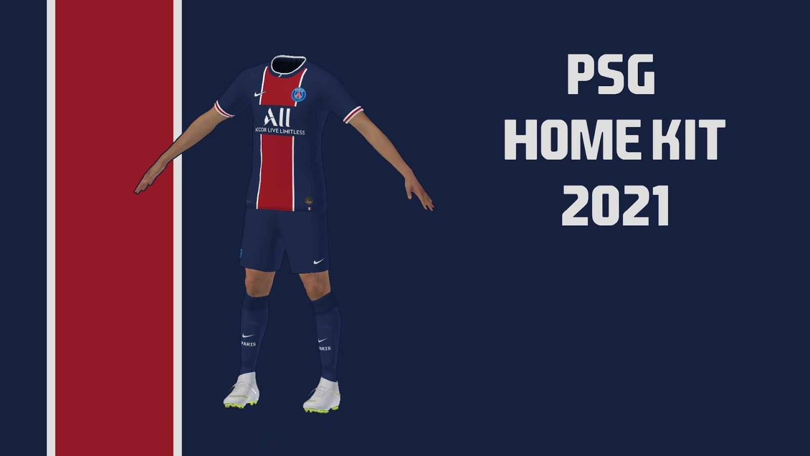 PSG Kits 2021 DLS 20 Logo Paris Saint Germain