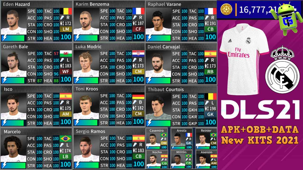 DLS 21 APK Mod Real Madrid New Kits 2021 Download