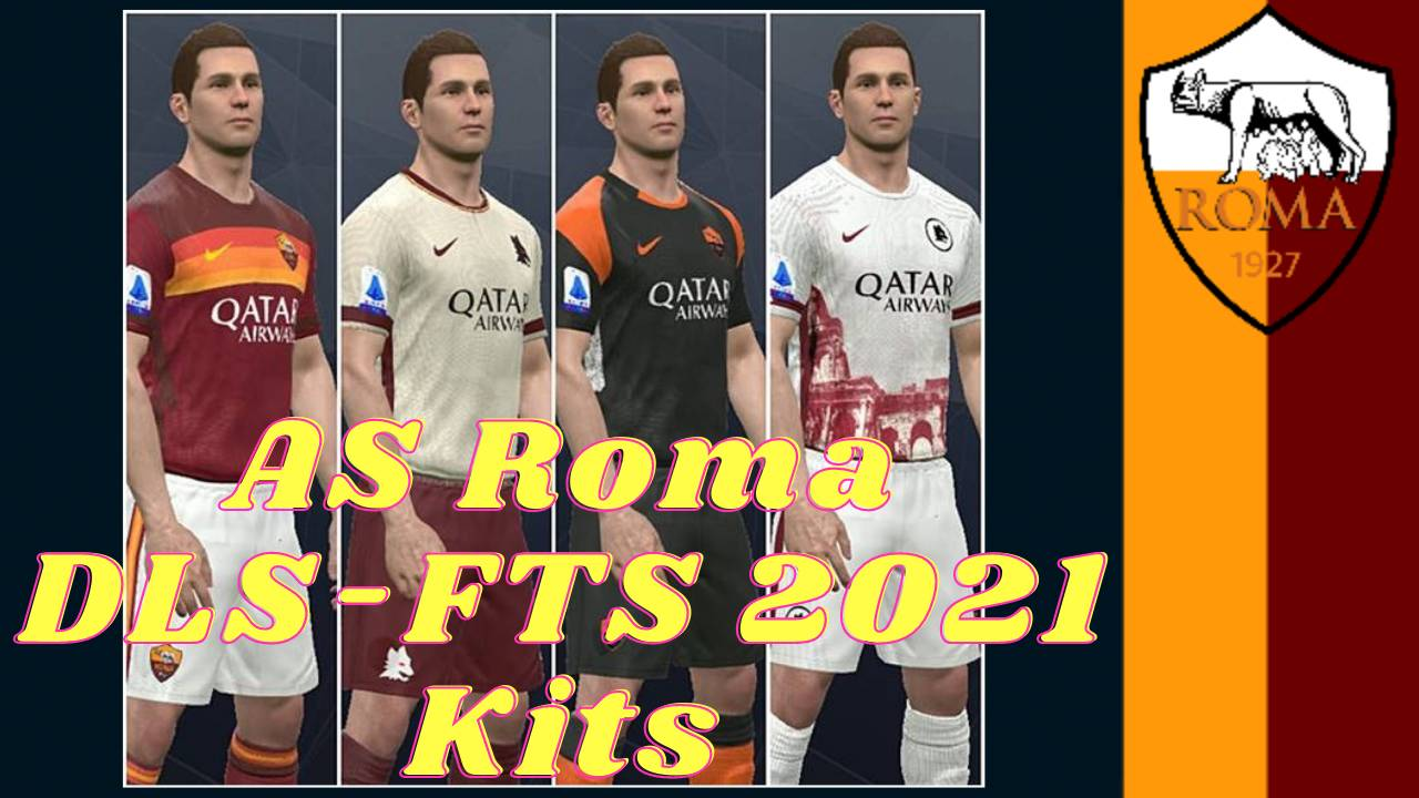 AS Roma kits 2021 by nike Touch Soccer DLS and FTS