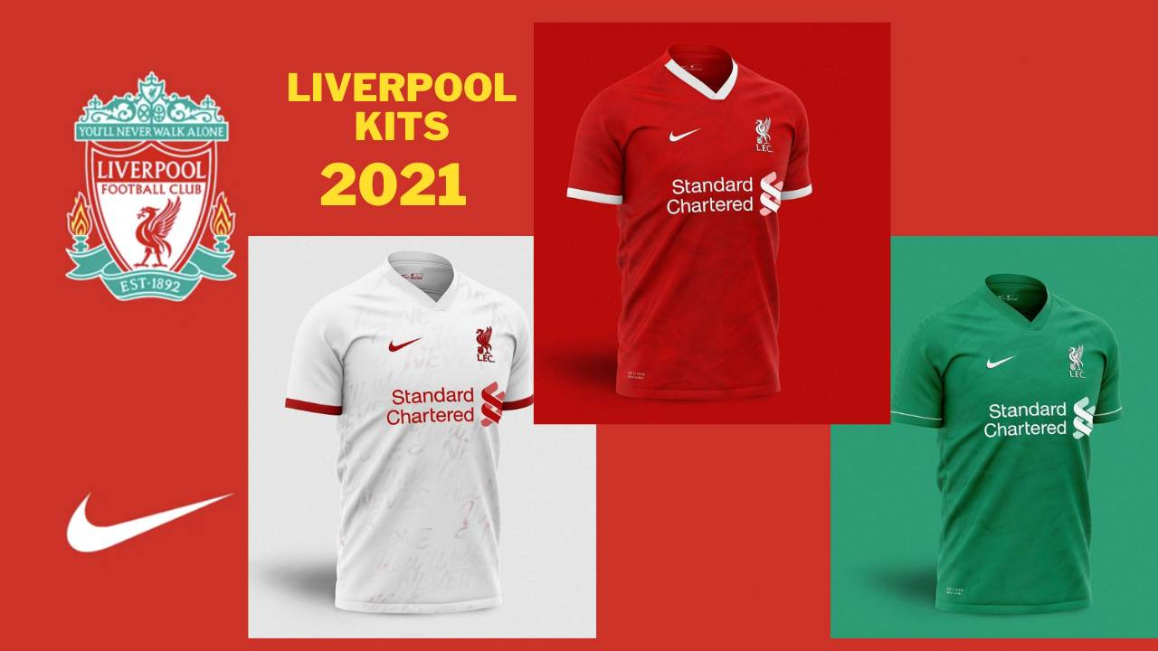 Liverpool 2021 Kits Home, Away and Third
