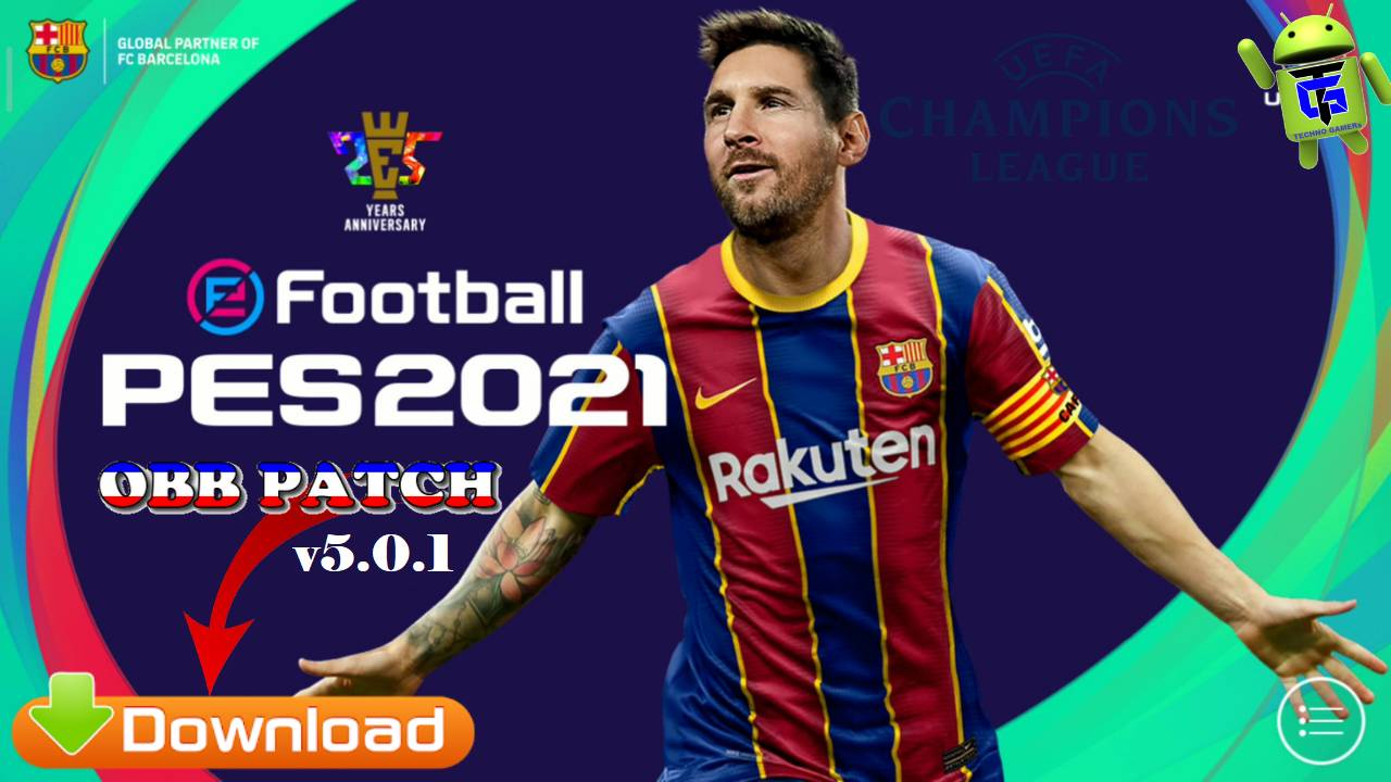 PES 2021 Patch UCL v5.0.1 Android Full License Download