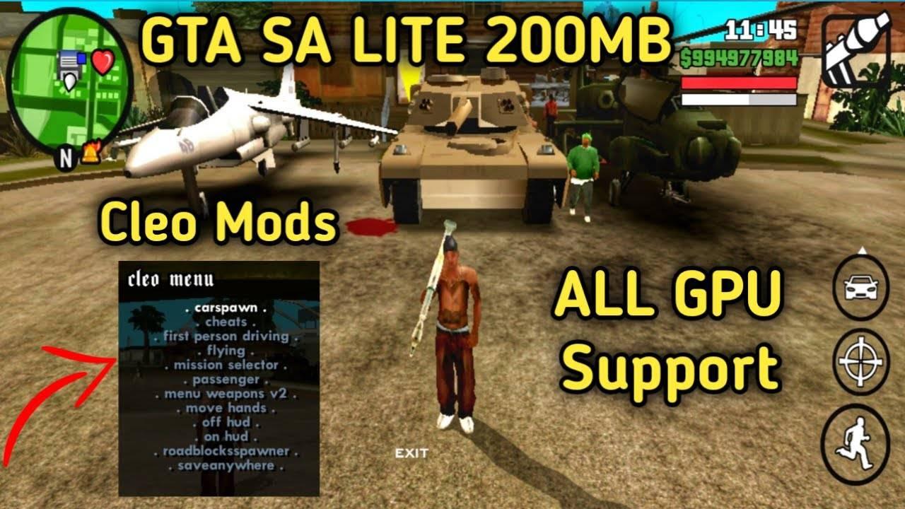 GTA SA Lite Apk Obb Download