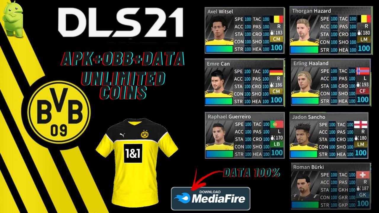 DLS 21 APK Borussia Dortmund Hack Data Download